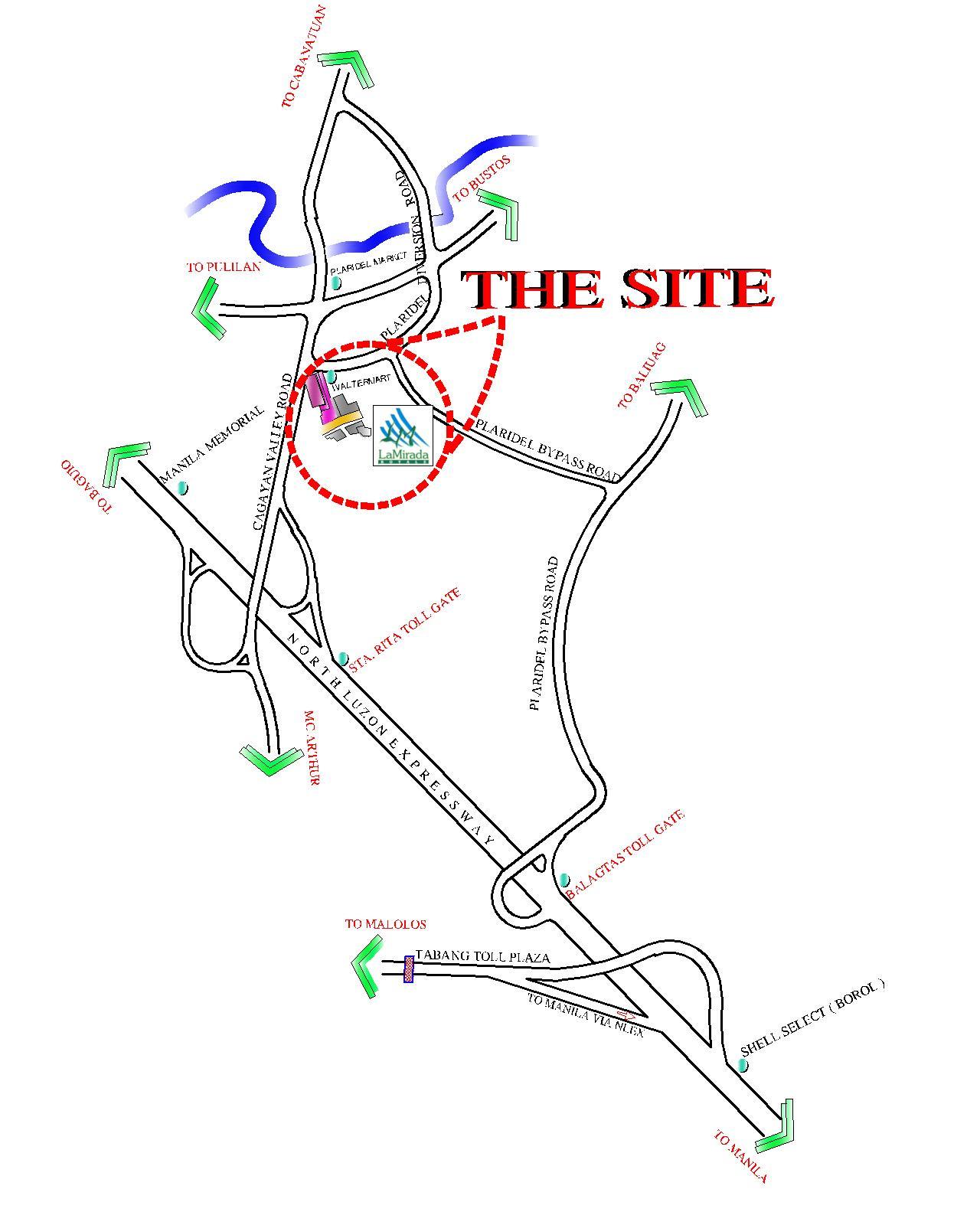 LA MIRADA VIC MAP